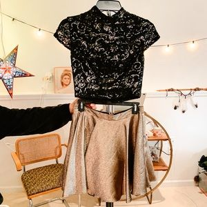 Dresses & Skirts - • t w o  p i e c e  s e q u i n  d r e s s •